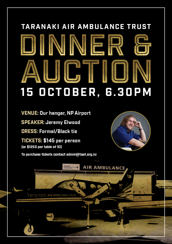 taranaki air ambulance trust dinner and auction